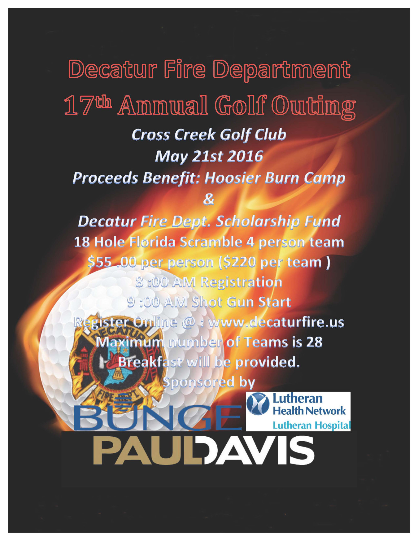 Decatur Fire Department Golf Outing 2016small